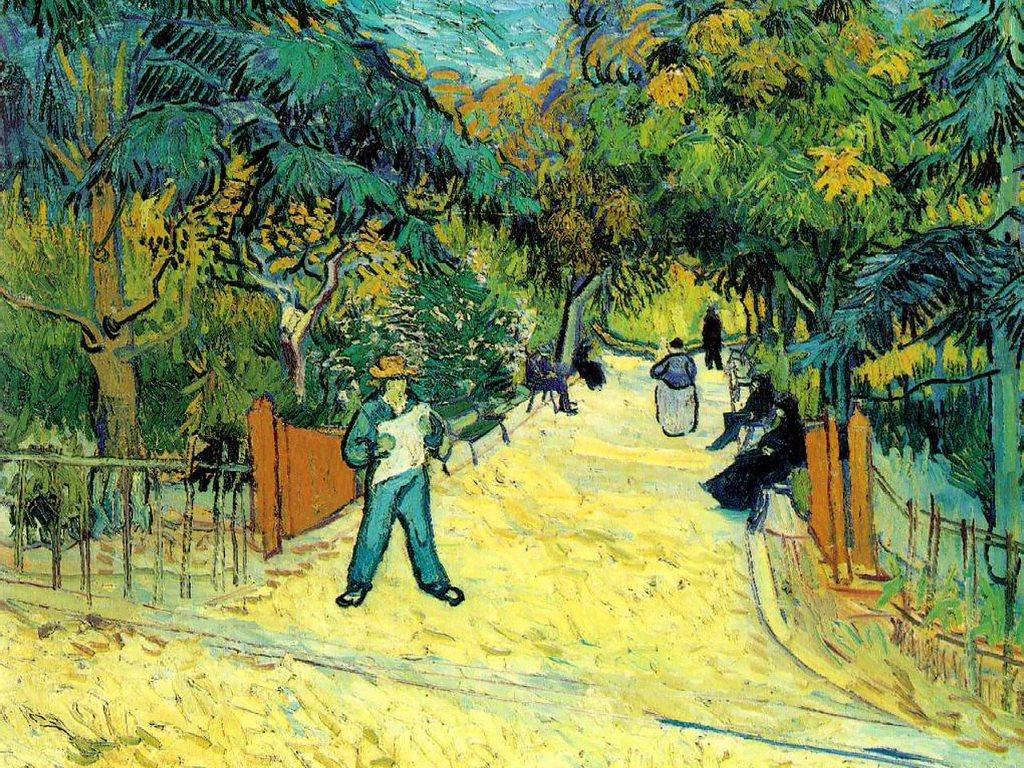 Artistic Wallpaper: Van Gogh - Entrance to the Public Garden in Arles