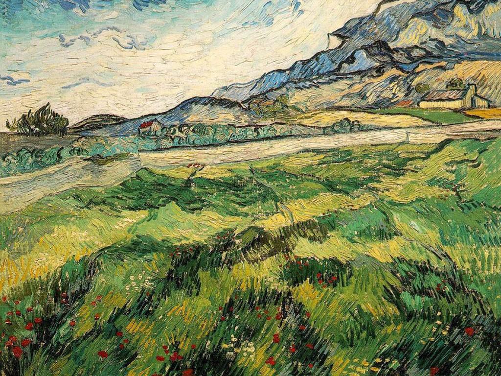 Artistic Wallpaper: Van Gogh - Green Wheat Field