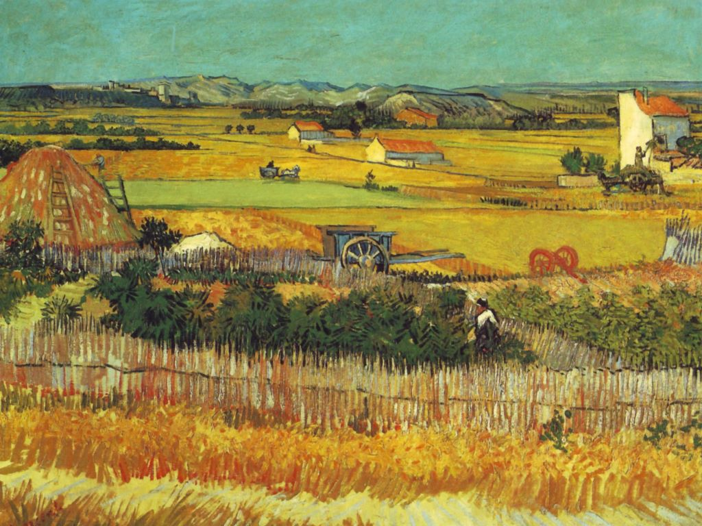 Artistic Wallpaper: Van Gogh - Harvest