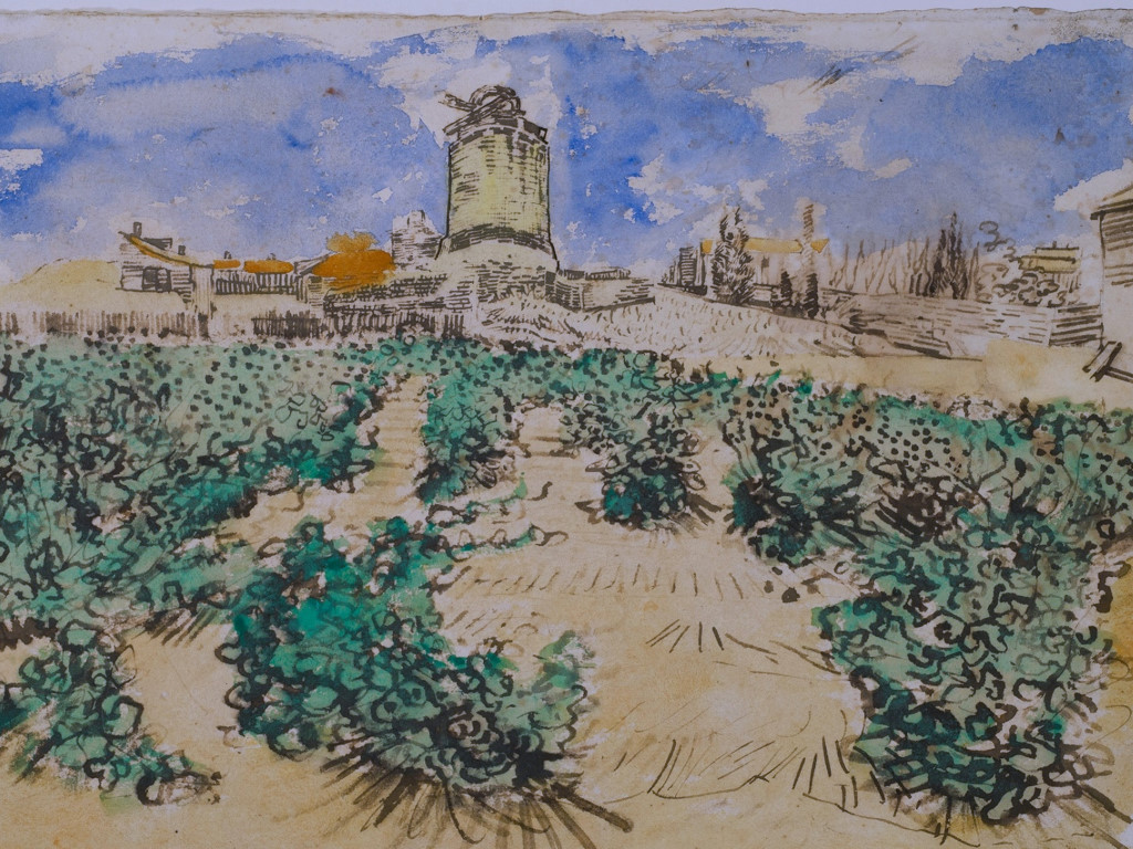 Artistic Wallpaper: Van Gogh - Le Moulin d'Alphonse