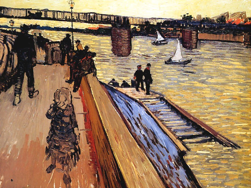 Artistic Wallpaper: Van Gogh - Le Pont de Trinquetaille