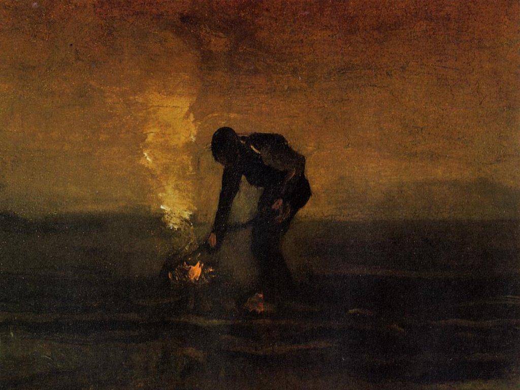Artistic Wallpaper: Van Gogh - Peasant Burning Weeds