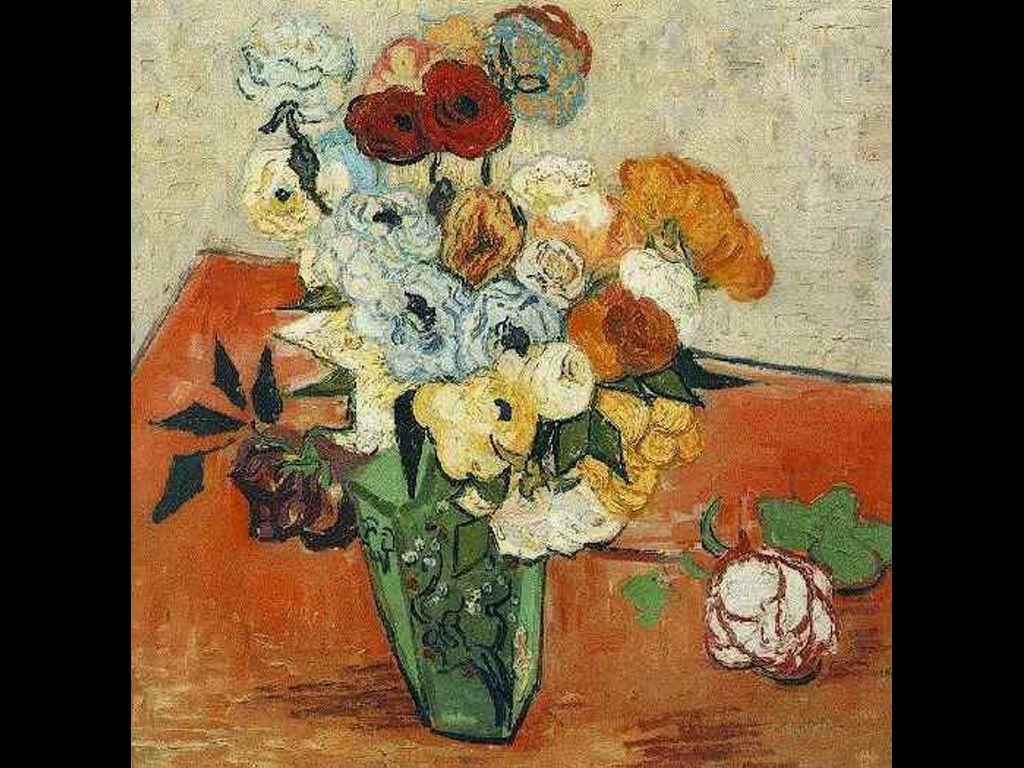 Artistic Wallpaper: Van Gogh - Roses and Anemones