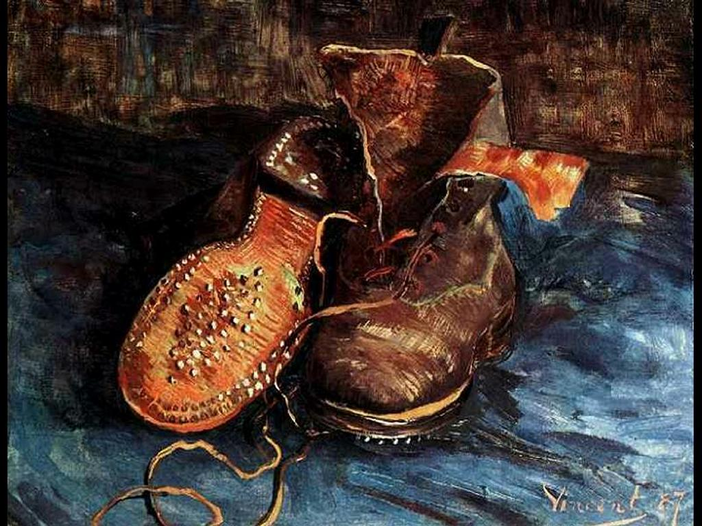 Artistic Wallpaper: Van Gogh Shoes