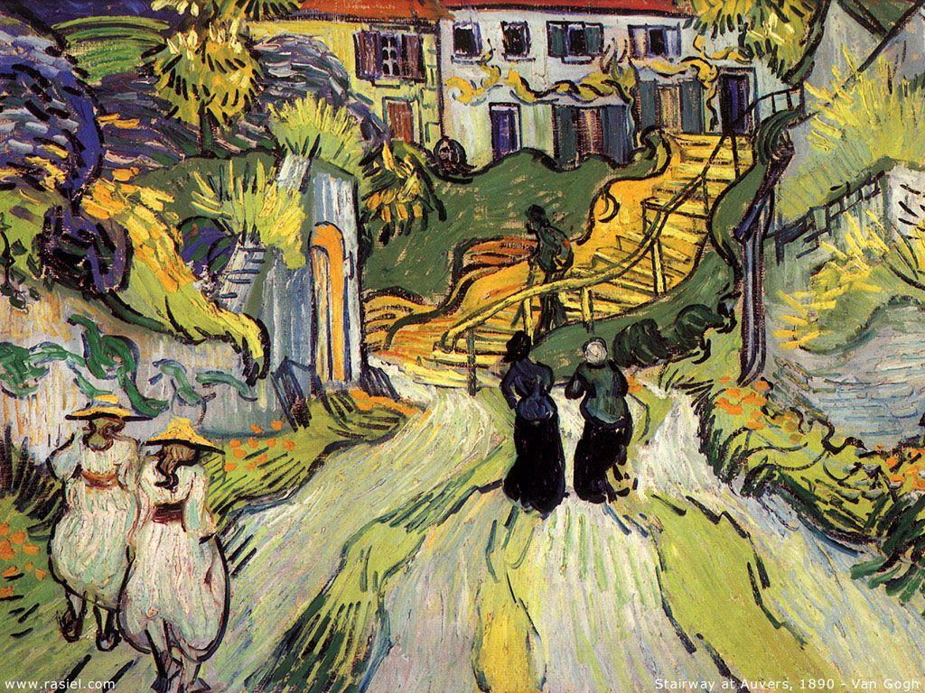 Artistic Wallpaper: Van Gogh - Stairway at Auvers