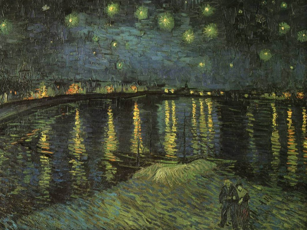 Artistic Wallpaper: Van Gogh - Starry Night Over the Rhone