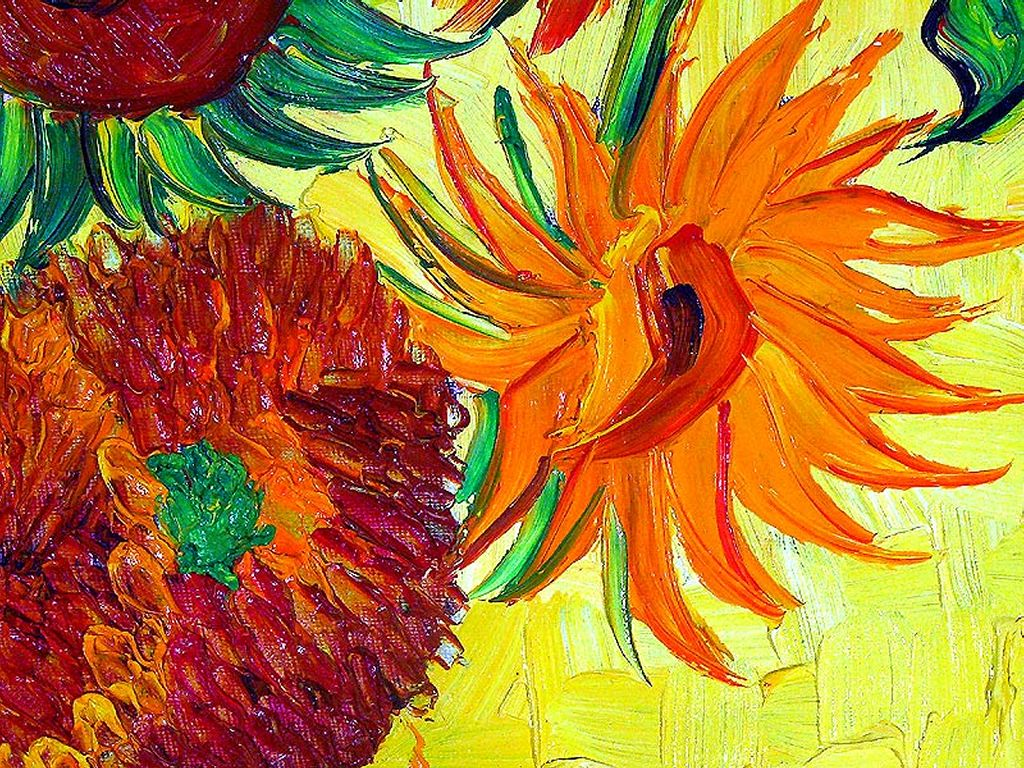 Artistic Wallpaper: Van Gogh - Sunflowers (detail)