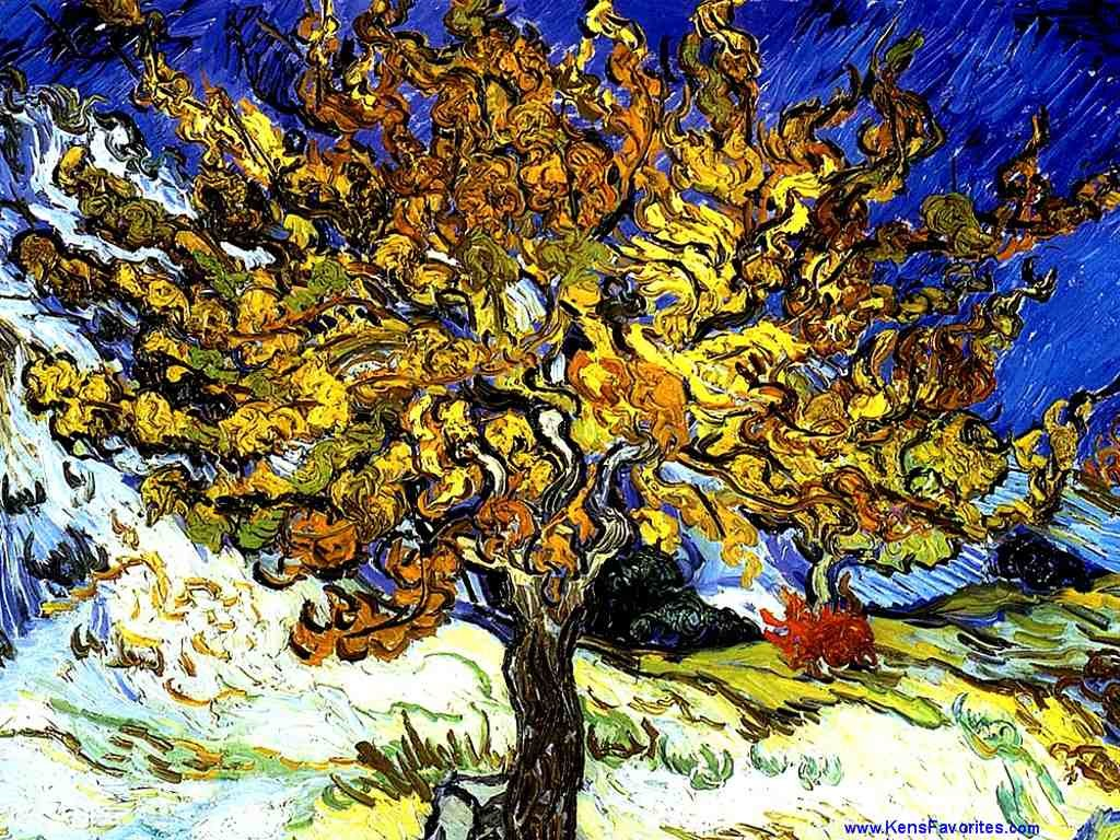 Artistic Wallpaper: Van Gogh - The Mulberry Tree