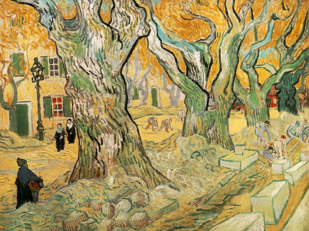 Artistic Wallpaper: Van Gogh - The Road Menders