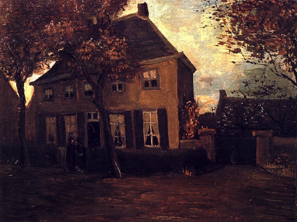 Artistic Wallpaper: Van Gogh - The Vicarage at Nuenen