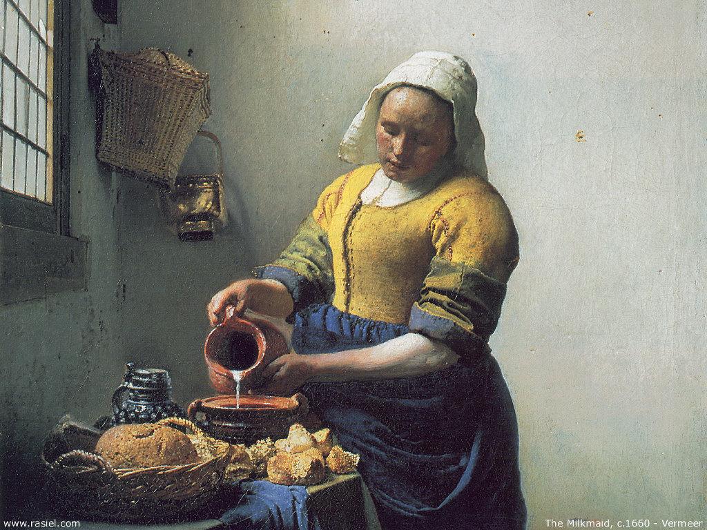 Artistic Wallpaper: Vermeer - The Milkmaid