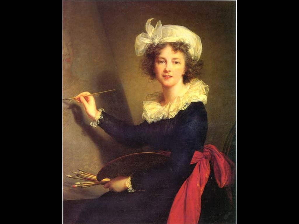 Artistic Wallpaper: Vigee Lebrun - Self Portrait