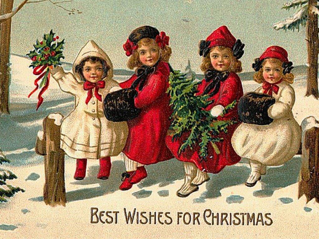 Artistic Wallpaper: Vintage Christmas