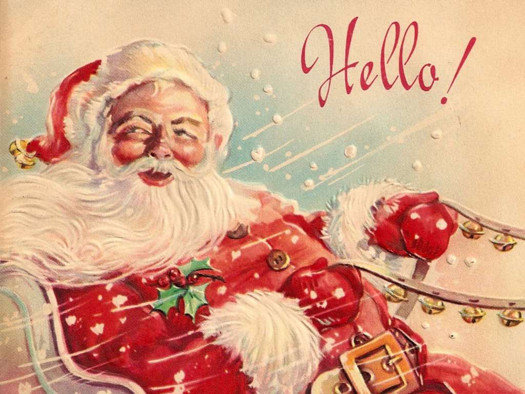 Artistic Wallpaper: Vintage Christmas - Santa Claus