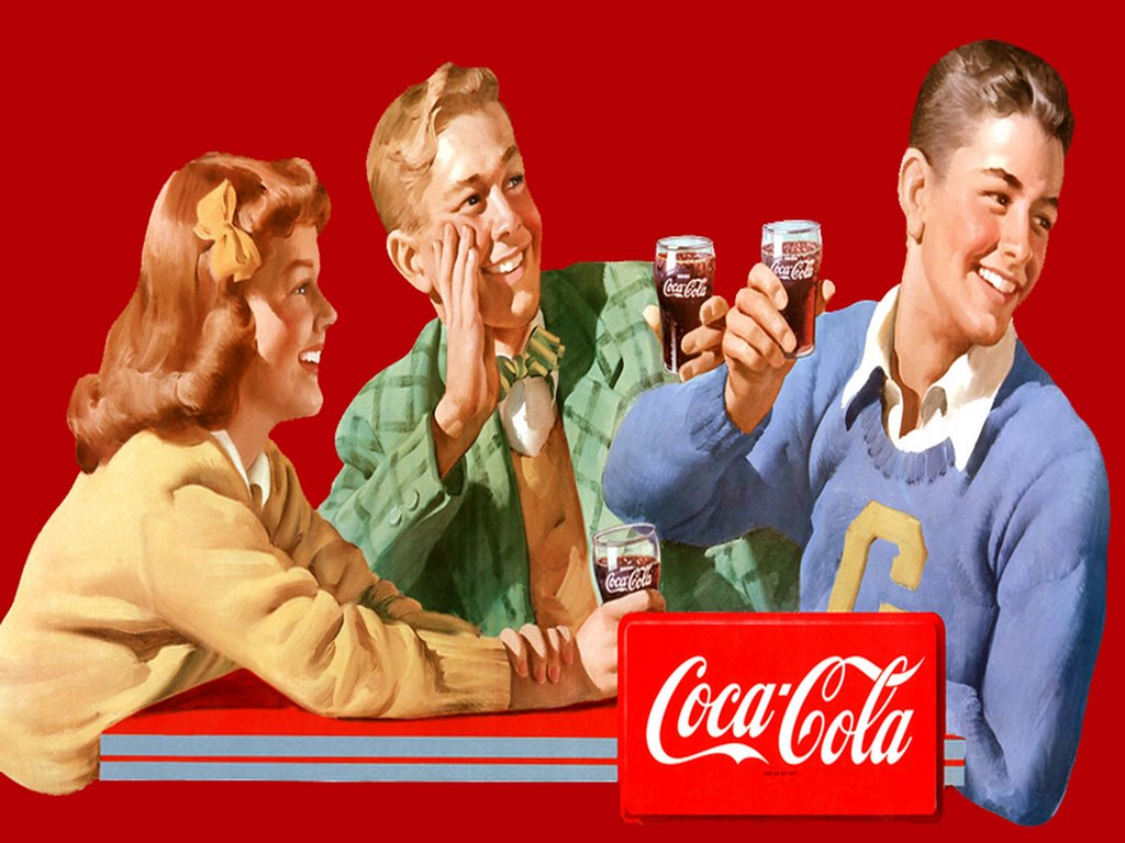 Artistic Wallpaper: Vintage - Coke