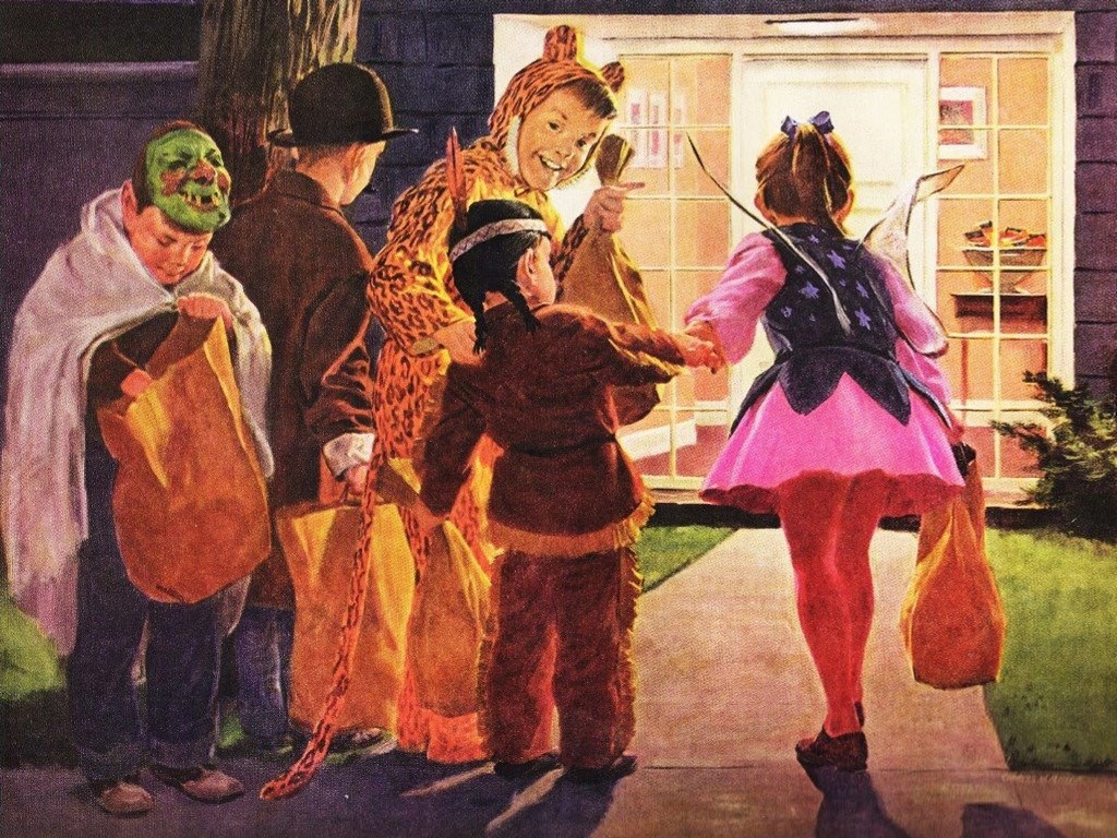 Artistic Wallpaper: Vintage - Halloween Kids