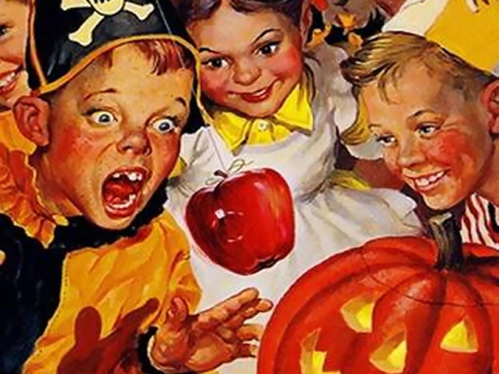 Artistic Wallpaper: Vintage - Halloween Kids