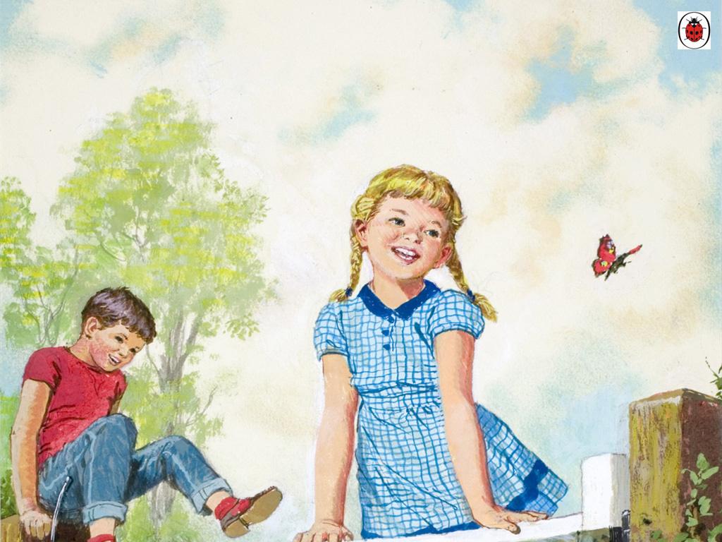 Artistic Wallpaper: Vintage Kids