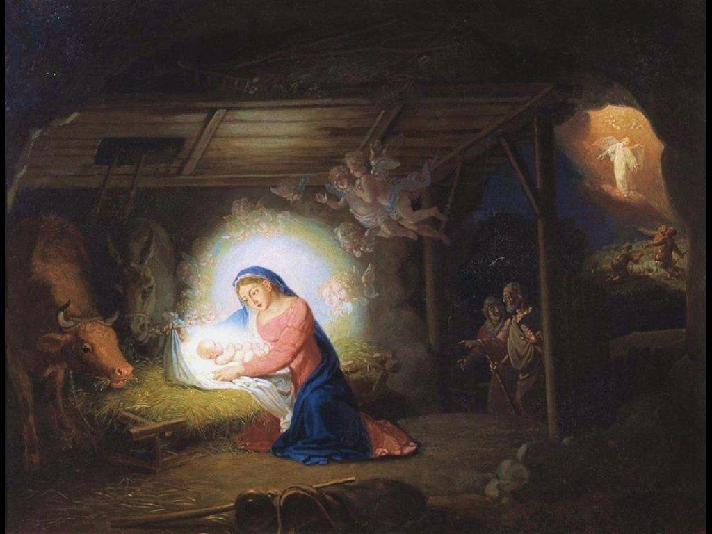 Artistic Wallpaper: Vladimir Borovikovsky - The Nativiy of Christ