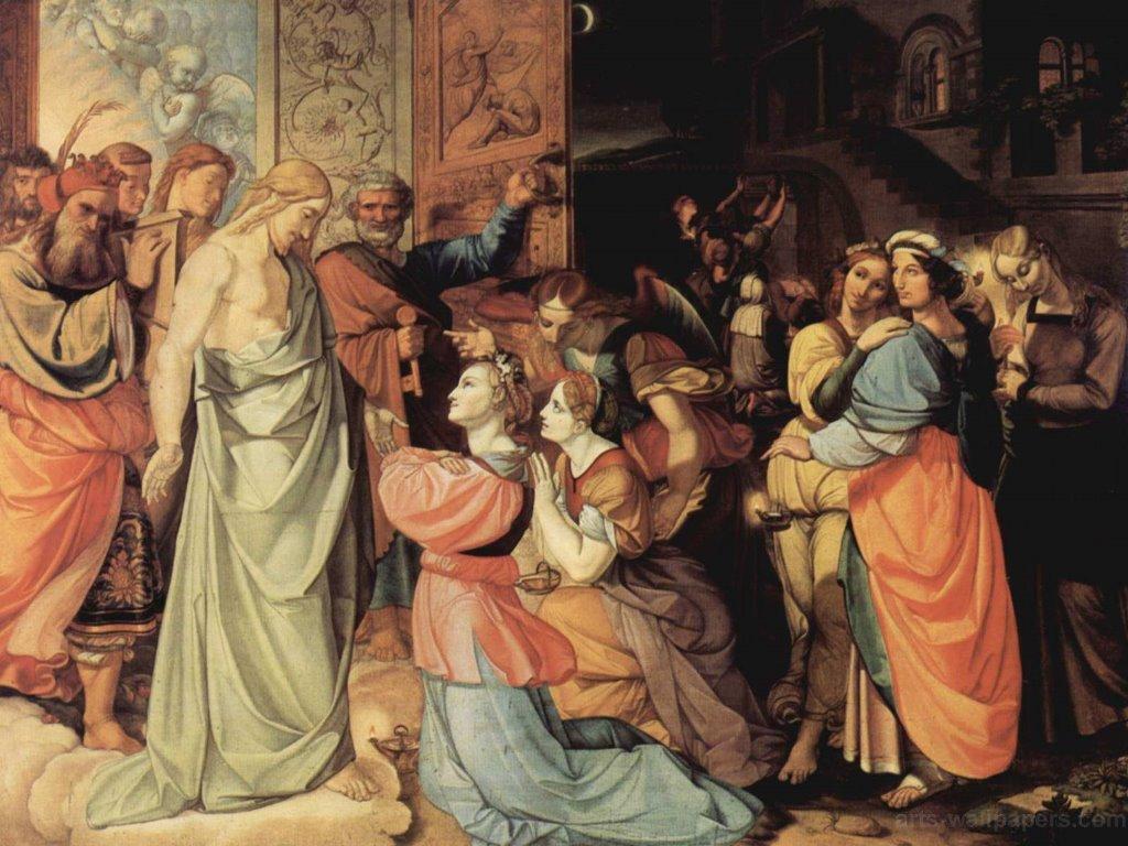 Artistic Wallpaper: Von Cornelius - The Wise and Foolish Virgins