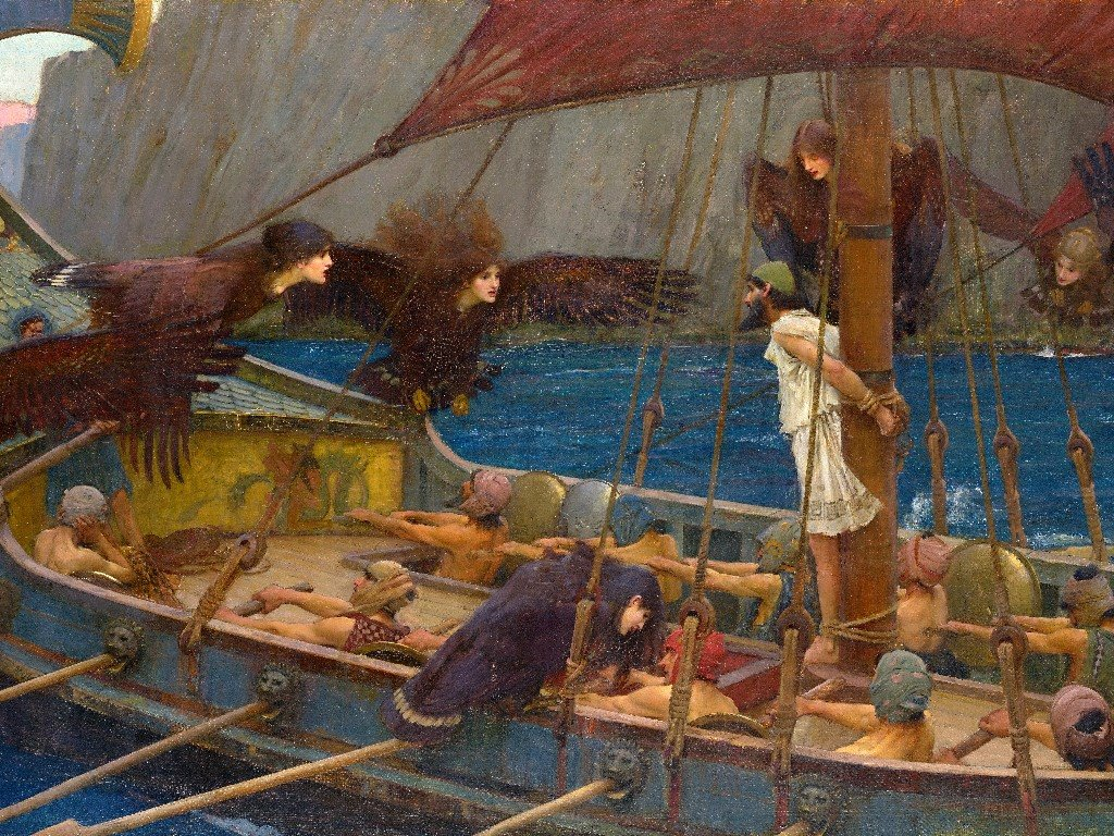 Artistic Wallpaper: Waterhouse - Ulisses and the Sirens
