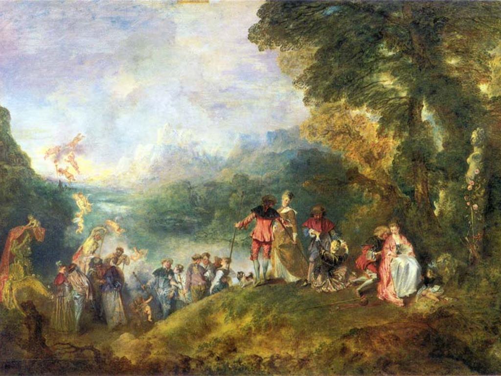 Artistic Wallpaper: Watteau - Cythera