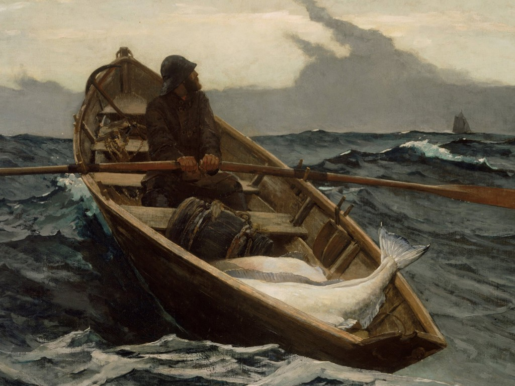 Artistic Wallpaper: Winslow Homer - The Fog Warning