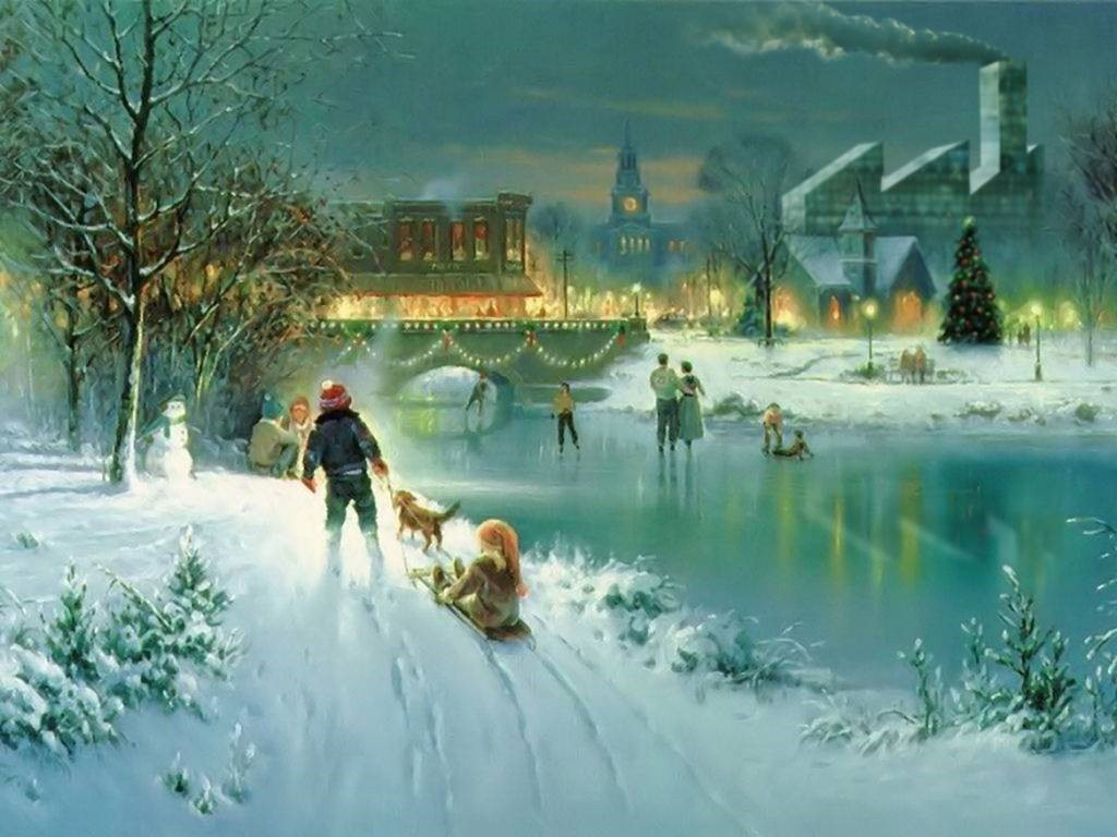 Artistic Wallpaper: Xmas - Frozen River