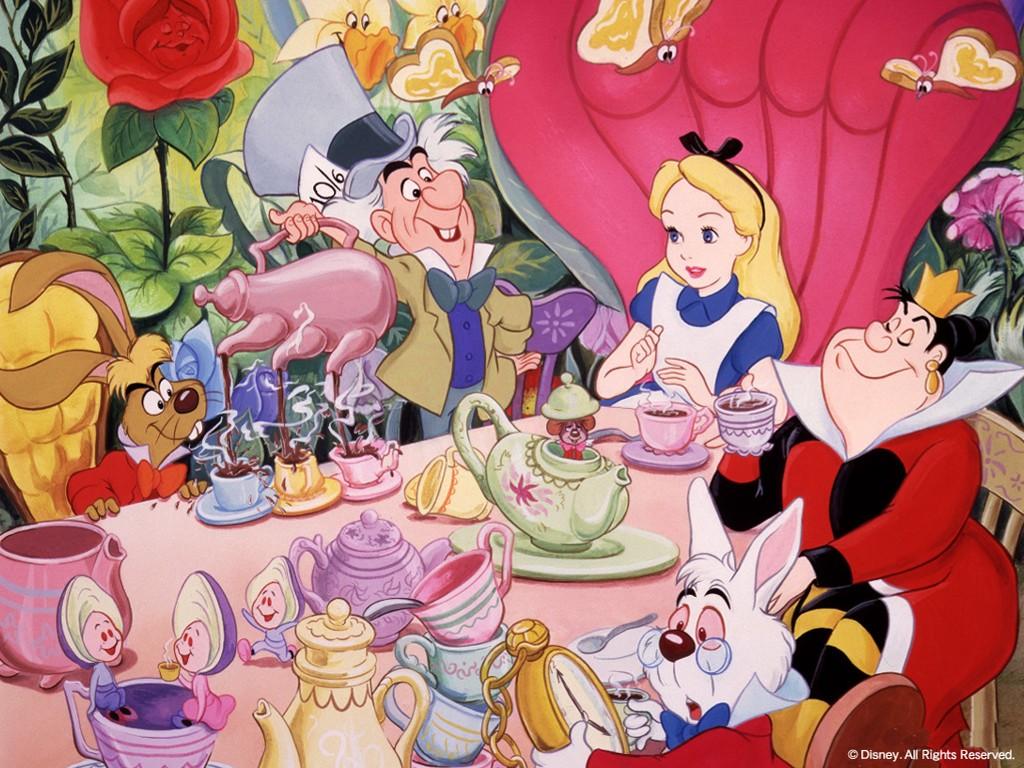 Cartoons Wallpaper: Alice in the Wonderland - Tea Time