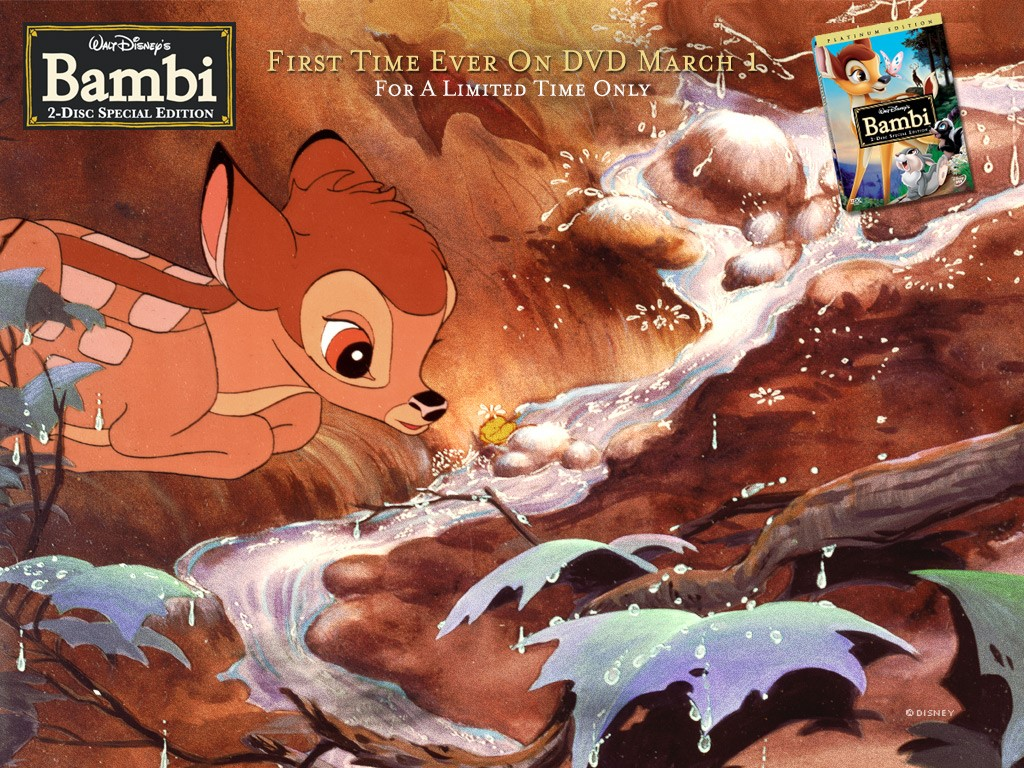 Cartoons Wallpaper: Bambi