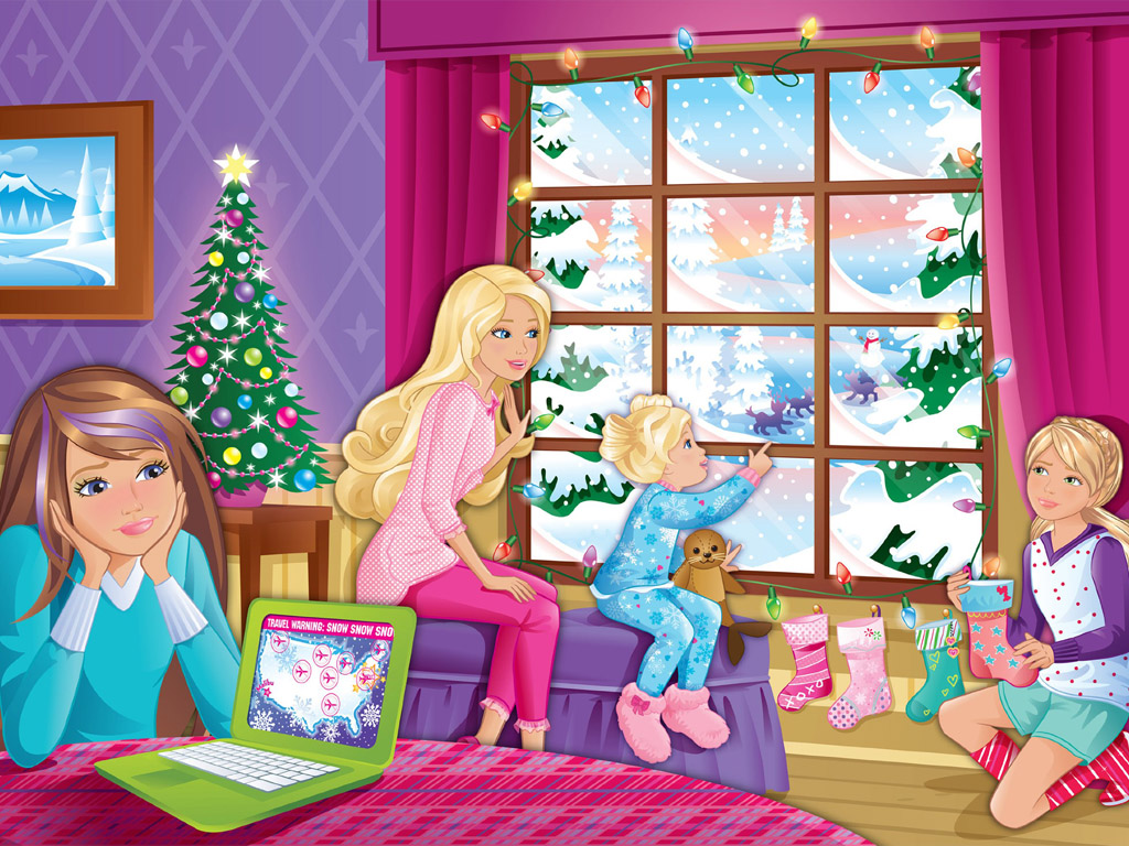 Cartoons Wallpaper: Barbie - Christmas