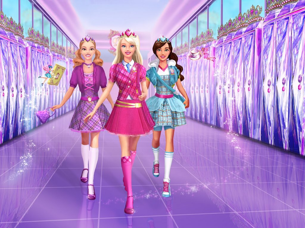 Cartoons Wallpaper: Barbie - Princess Charm School