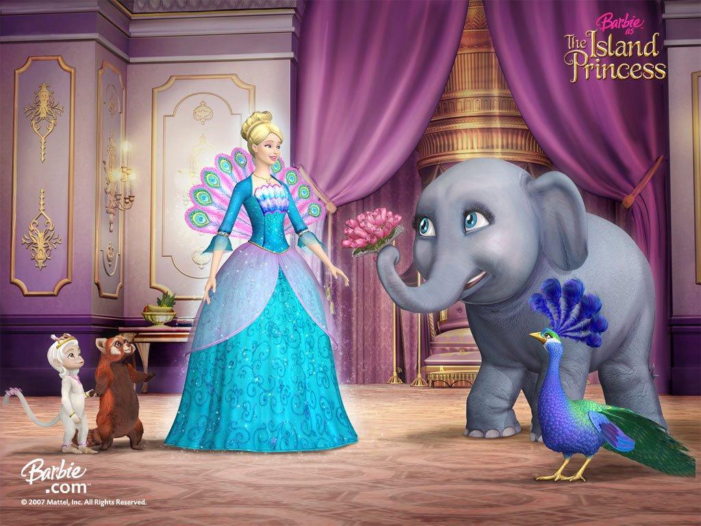 Cartoons Wallpaper: Barbie - The Island Princess