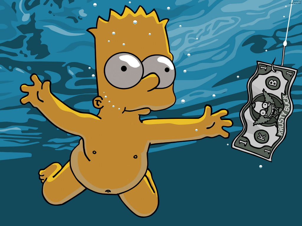 Cartoons Wallpaper: Bart Simpson - Nevermind