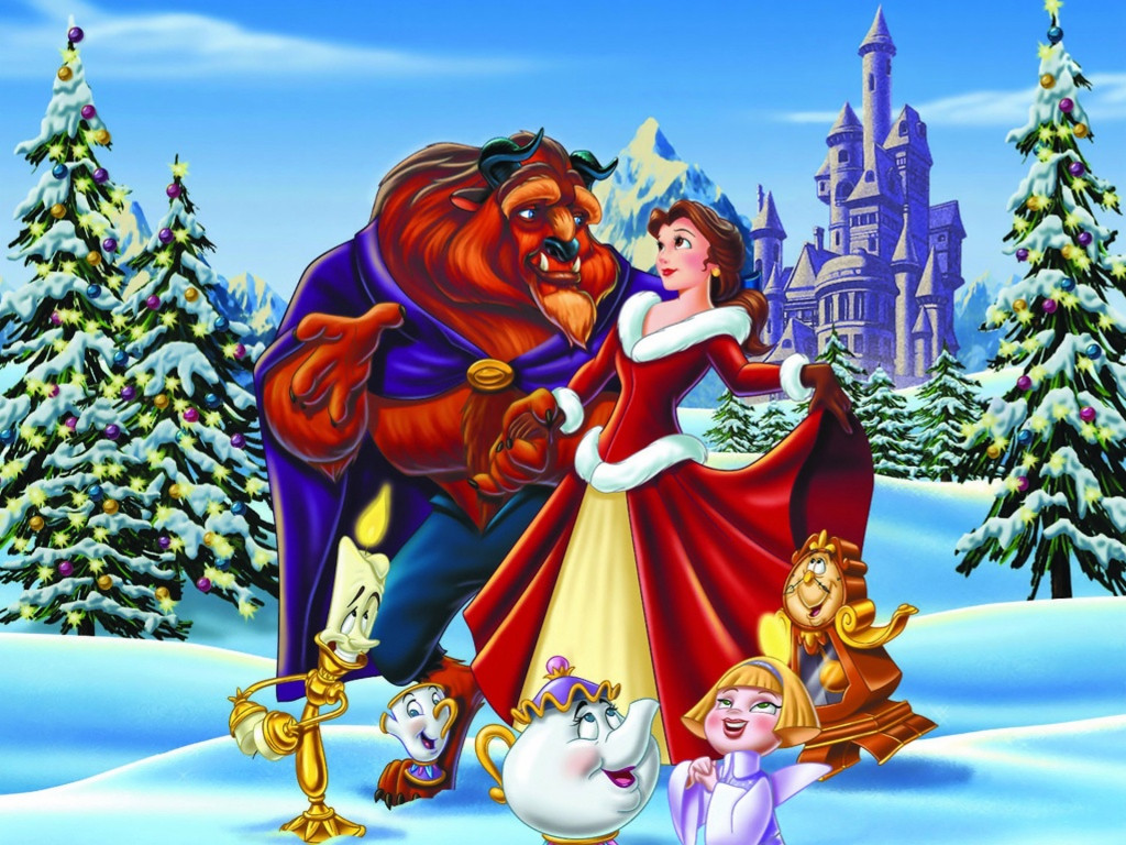 Cartoons Wallpaper: Beauty and the Beast - The Enchanted Christmas