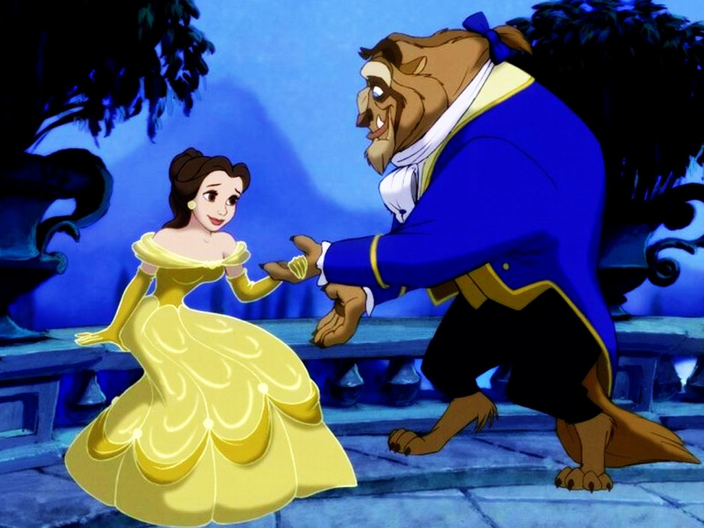 Cartoons Wallpaper: The Beauty and the Beast