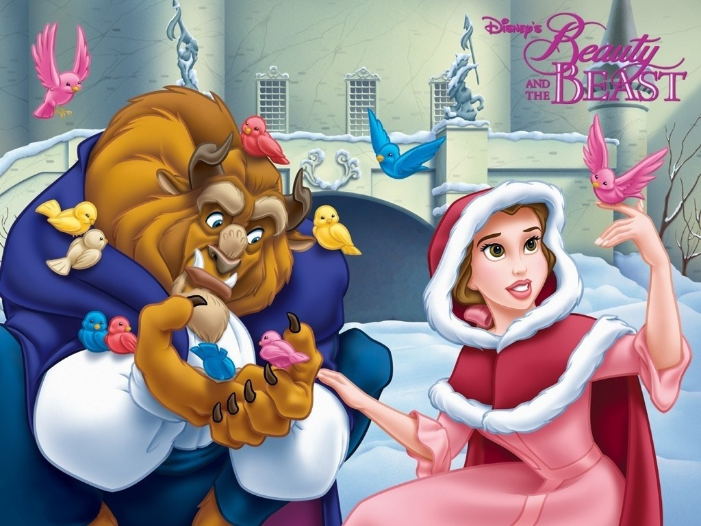 Cartoons Wallpaper: Beauty and the Beast - Christmas