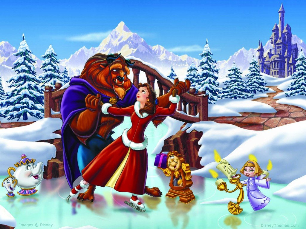 Cartoons Wallpaper: The Beauty and the Beast - Xmas