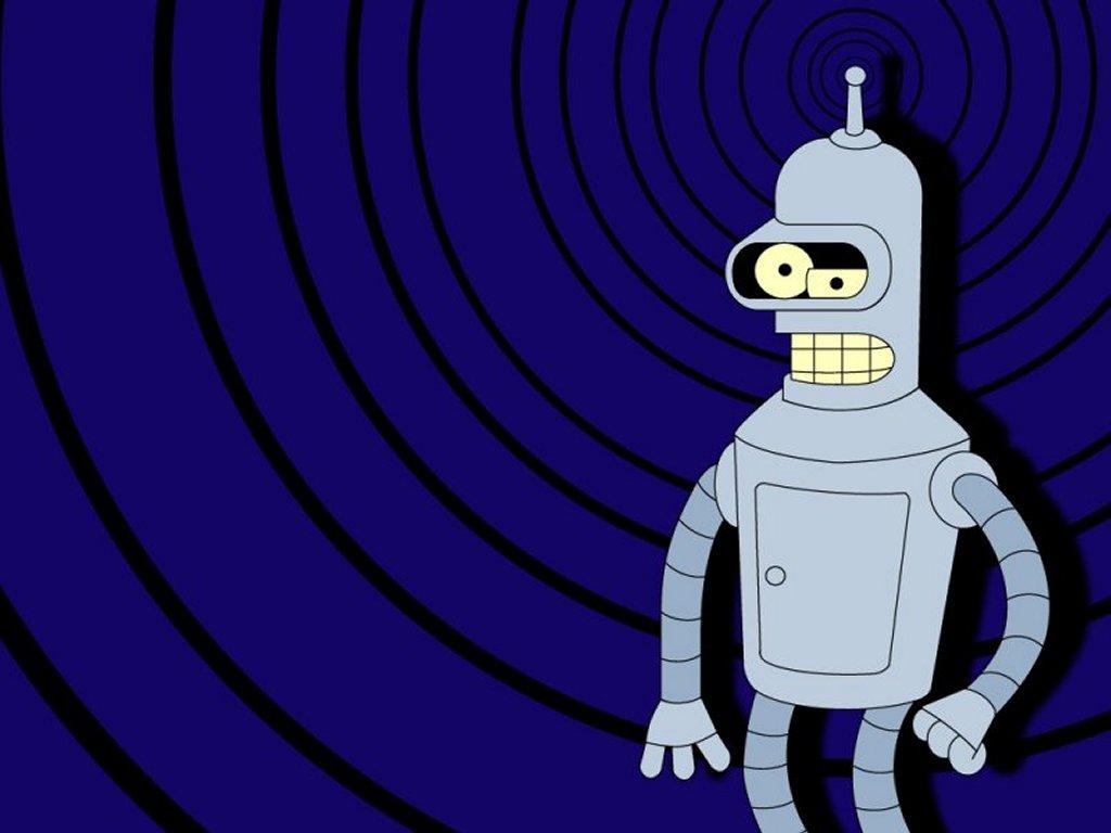 Cartoons Wallpaper: Bender Dazed and Confused