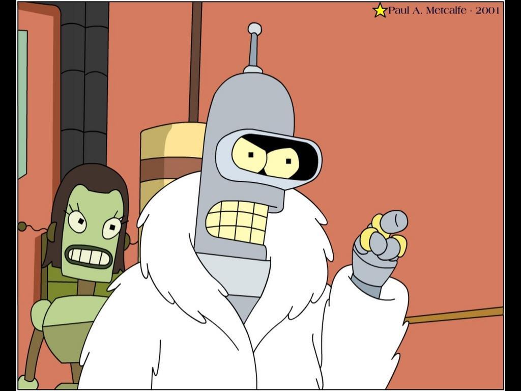 Cartoons Wallpaper: Bender - Pimp