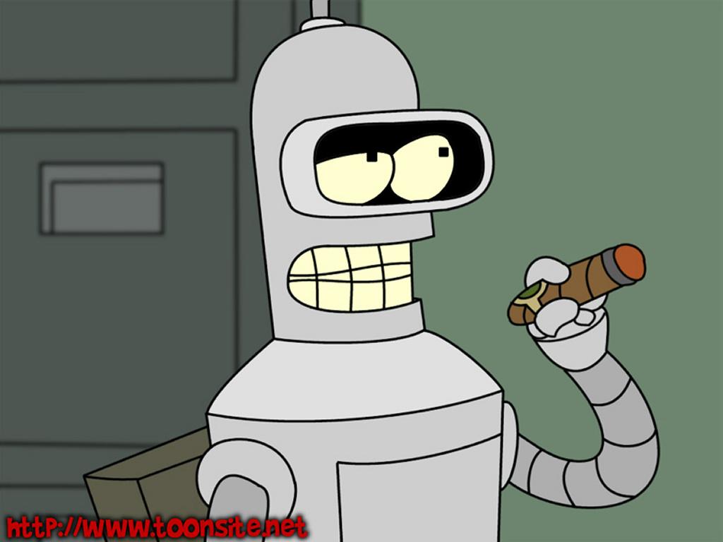 Cartoons Wallpaper: Bender Smokin