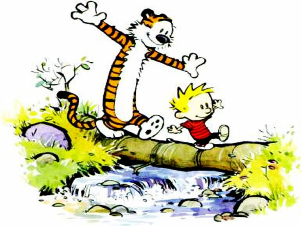 Cartoons Wallpaper: Calvin and Hobbes - Friends Forever
