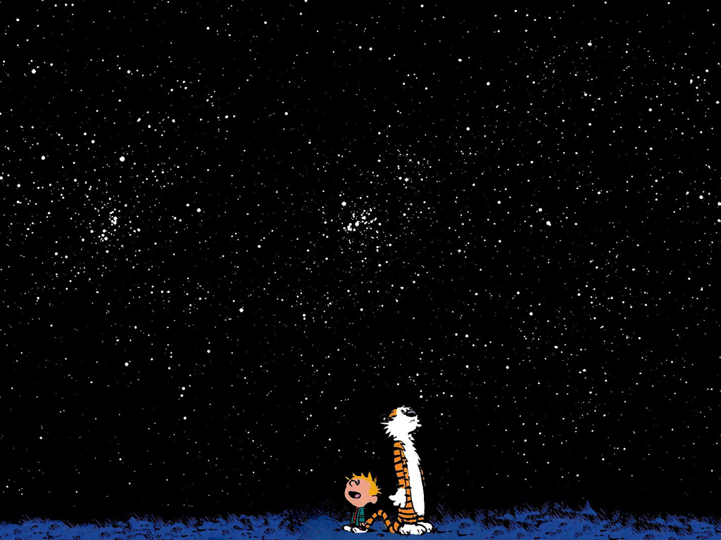 Cartoons Wallpaper: Calvin and Hobbes - Stars