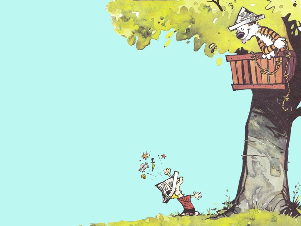 Cartoons Wallpaper: Calvin and Hobbes - Treehouse