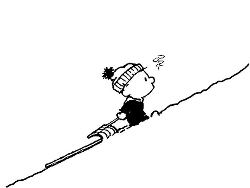 Cartoons Wallpaper: Calvin Climb the Mountain