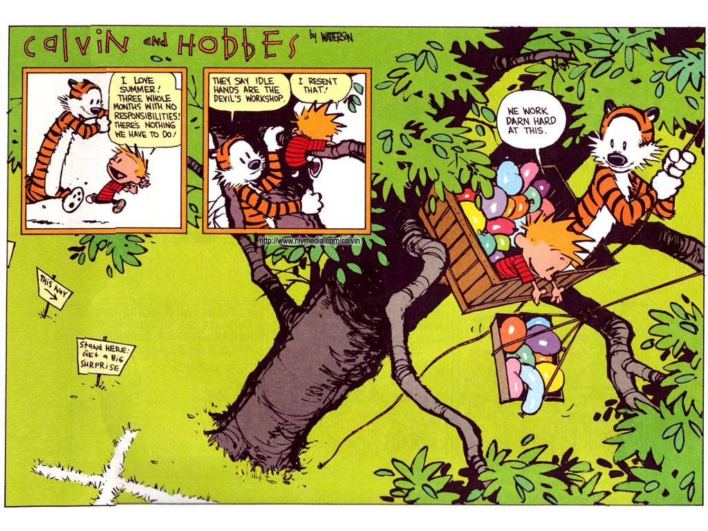 Cartoons Wallpaper: Calvin and Hobbes