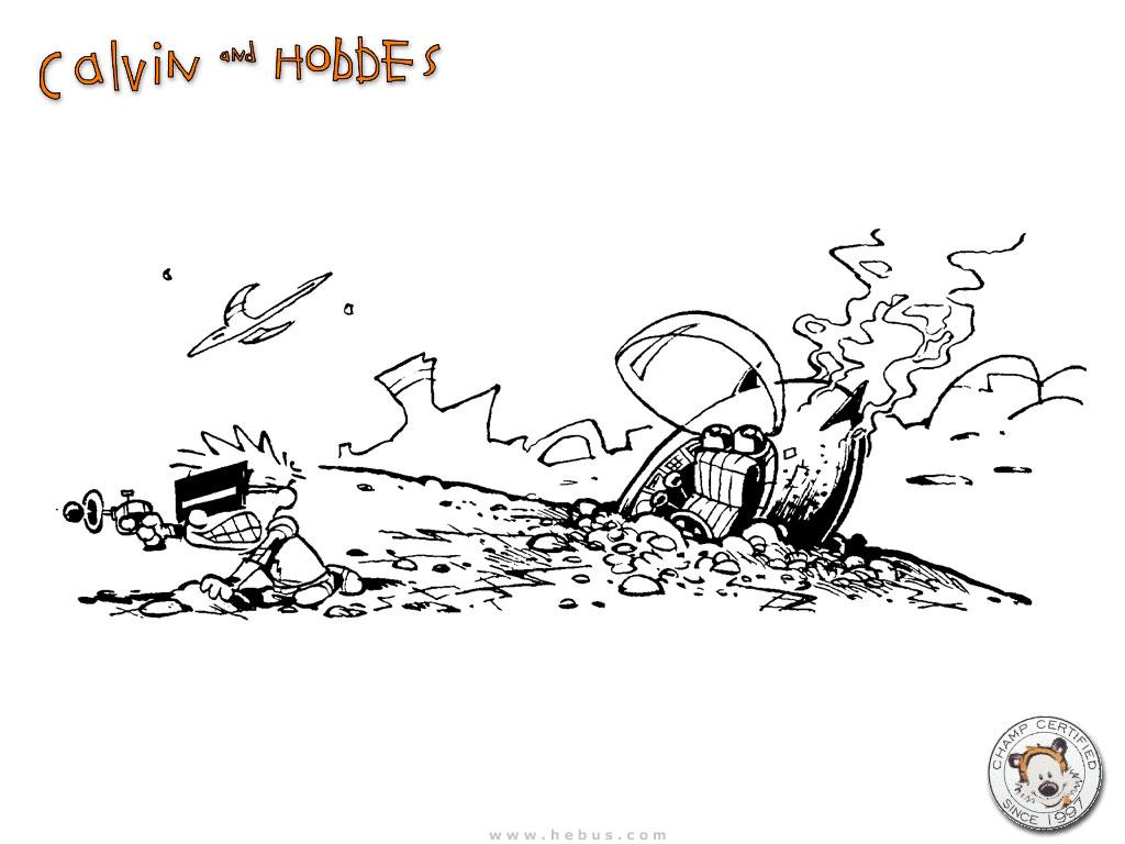 Cartoons Wallpaper: Calvin - Ship Crash