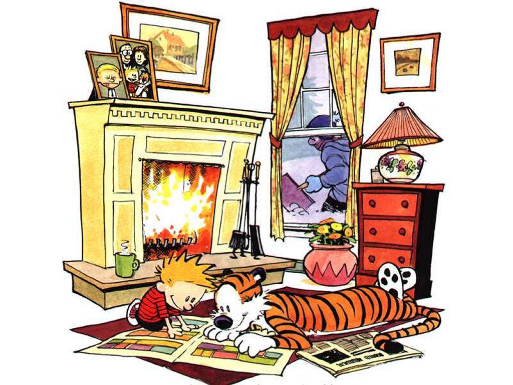 Cartoons Wallpaper: Calvin - Winter