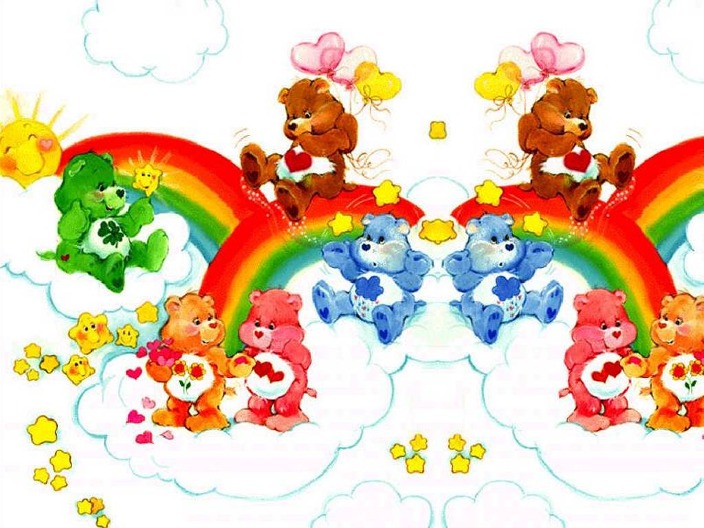 Papel de Parede Gratuito de Desenhos : Ursinhos Carinhosos