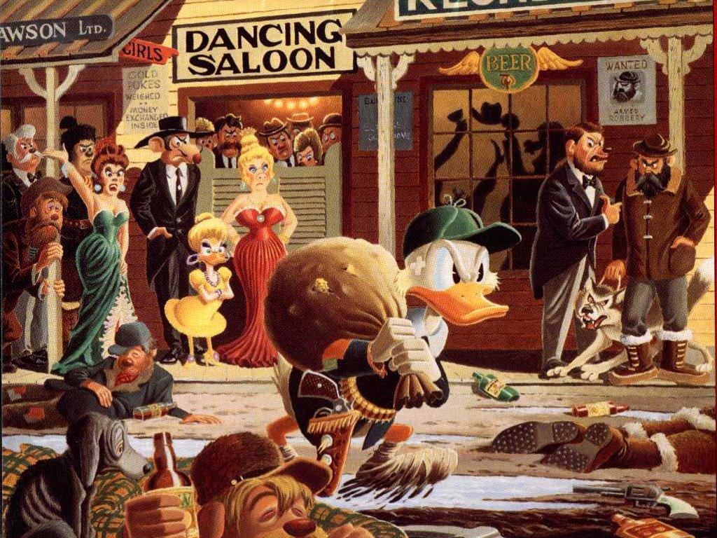 Papel de Parede Gratuito de Desenhos : Carl Barks - Tio Patinhas Minerador